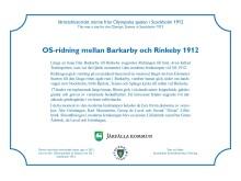 OS-skylt Barkarby torg