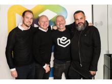 Från vänster: Richard Andemark </salt>, Jack Melcher-Claësson - Epicenter, Ola Ahlvarsson - Epicenter,  Koshi Hamedi  </salt>