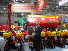 Philip Westman in front of Tempo on connection with the Award at Agrosalon in Moscow October 2012
