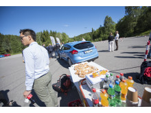 Fra pressekonferansen hvor Ford Motor Norge og forsikringsselskapet If lanserer et unikt opplæromgsprogram for unge sjåfører Ford Driving Skills for Life