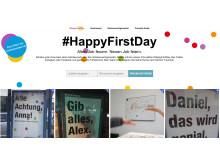 Die Aktions-Webseite von #HappyFirstDay ist unter www.happyfirstday.de zu erreichen