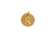 """Bokstav """"R"""" förgyllt guld"""