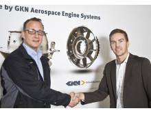 Tomas Lindsta, GKN Aerospace och Johan Junvik AXXOS