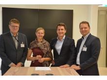 Energimyndigheten, Gunilla Nordlöf generaldirektör Tillväxtverket, Göran Lundwall koncernvd Almi Företagspartner, Mikael Karlsson, vd Almi Invest