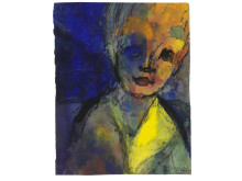 Emil Nolde: Female portrait, c. 1938-1945.