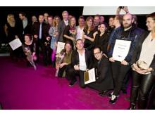 Bild på alla glada vinnare i Restauranggalan 2013
