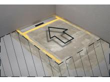 unidrain® - ShowerLine - Revolutionerande Golvränna / Golvbrunn - Installation - 2