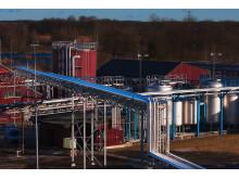 """Pfizer Strängnäs, ny bioteknologisk fabrik, """"rör och behållare"""""""