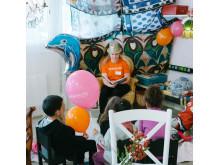 Sagostund - Världens Barn i Kortedala-butiken
