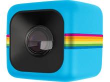Polaroid Cube, blå snett framifrån