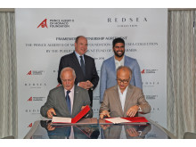 Hi-res image - Red Sea Collection - The signing ceremony between Red Sea Collection by The Public Investment Fund of Saudi Arabia and Prince Albert Foundation - a framework agreement on sustainability and marine conservation aims