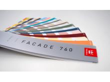 Tikkurilan Facade 760 -väriviuhka sisältää julkisivuvärit niin mineraali-, puu- kuin metallipinnoille.