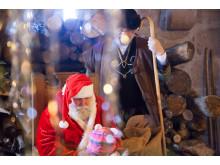 Weihnachtsmann auf Burg Hanstein