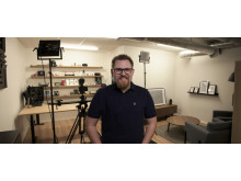 Johan Wahlberg i Inets studio