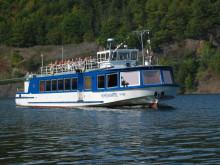 Fahrgastschiff auf der Hohenwarte Talsperre