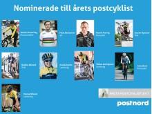 Nominerade till Årets Postcyklist 2017