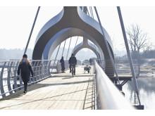 Var med och spring in bron