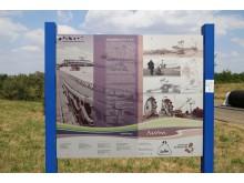 Straße der Braunkohle - Informationstafel am Werbeliner See