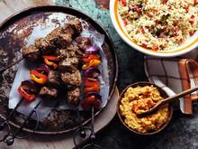 Lamb Shish Kebabs with Houmous