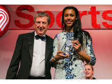 Morgan Lake wins SportsAid's One-to-Watch Award at charity's 2014 SportsBall