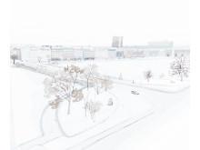Simones skitse snefald