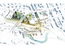Karta, Campusplan Högskolan i Borås 2025