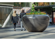 Marte planteringskärl, design Bellitalia, Drottninggatan Stockholmild