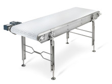 The modular belt stainless steel conveyor WLX from FlexLink.