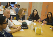 Superintendent Alistair Mallen of GMP Rochdale joins young people during the borough's third Question Time event.