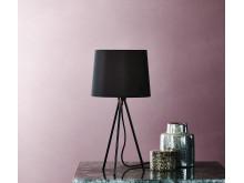 Bordlampe HERLUF sort miljø (169,-)