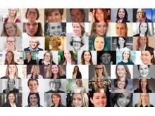 50 kvinner i tech - bildemontasje