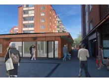 Nya arbets- och möteplatser, Wienertorget, Planteringen