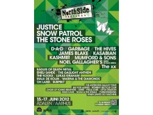 Plakaten for NorthSide Festival 2012