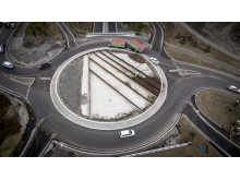 21.000 kubikkmeter med Leca Lettklinker er brukt på Riksvei på Gran på Hadeland