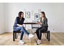 Petra Jensen och Isabell Andén, inredningsstylister på Bjurfors Home