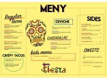 Meny Fiesta Taqueria & Bar