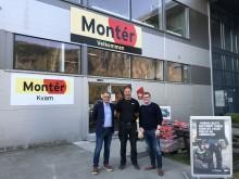 Fv. Lars Petter Grandahl, direktør handel i Optimera, Bjørn Jarle Tordal, daglig leder i Montér Kvam og Trond Bjarne Oseth, KAM Optimera handel