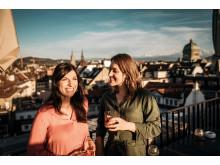 Apèro im Hotel Schweizerhof in Bern mit Blick über die Altstadt (UNESCO Weltkulturerbe)