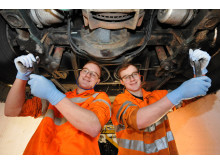 Go North East apprentices James (L) and Matthew Barnes