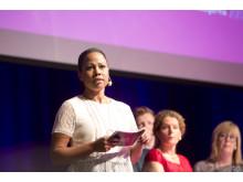 Kultur- och demokratiminister Alice Bah Kuhnke på Meg15
