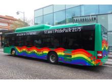 Pridebuss i Lund 2016