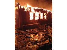 Hackås skola brinner januari 2012