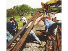 Cadets help repair Bluebell Railway - Around 1987