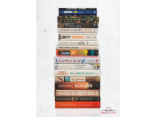 Costa Book Awards Shortlist 2016 paper stacked