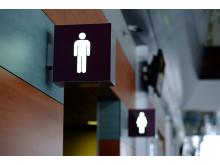 Skylt offentlig toalett - herr