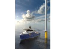 UT 540 WP.  Støttefartøy for vindparkdrift