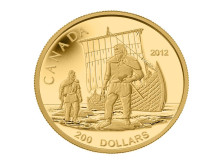 Canadas 200 dollarmynt i gull