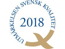 Utmärkelsen Svensk Kvalitet 2018 logotyp