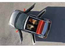 Nya Citroën C1 Airscape - cabrioletversionen uppifrån
