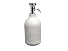 Pomd`or_x_Rosenthal_Equilibrium_Free_standing_soap_dispenser_white_Netting_Chrome